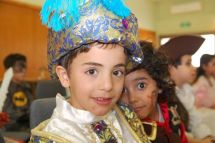 Child dressed up for Purim