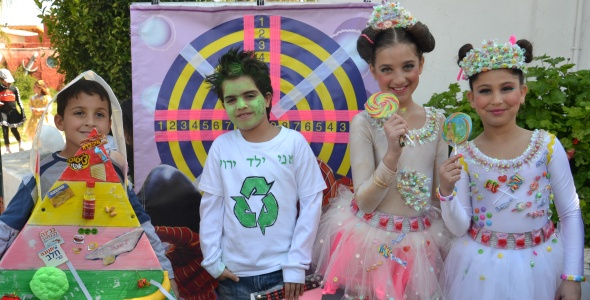 children on Purim