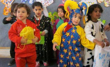 Children in costume at NAAMAT center