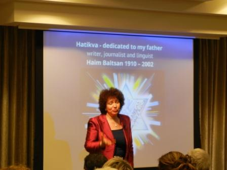 "Dr. Astrith Baltsan introduces her journey to exploring history of ""Hatikvah."""