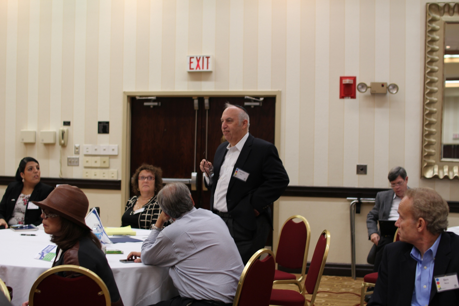 AZM Board Member Harvey Blitz asks a question to the panel