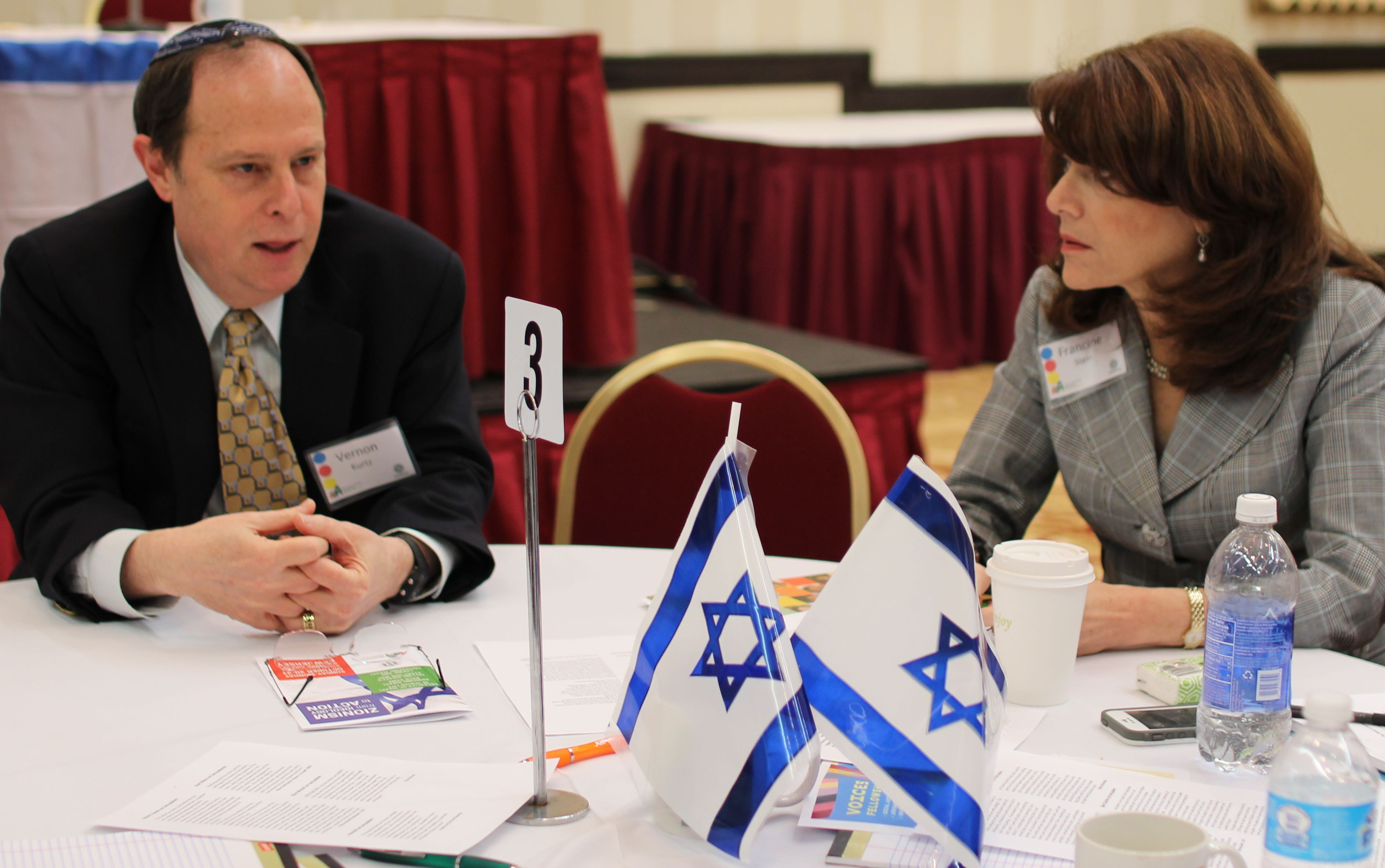 AZM President Rabbi Vernon Kurtz shares a point with Conference Chairman Dr. Francine Stein
