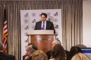 Ambassador Danny Danon addresses BDS conference in New York City.